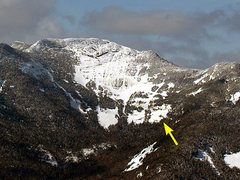 Rock Climbing Photo: Location of the cliff on Gothics East Face.
