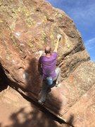 Rock Climbing Photo: The key right handhold.