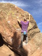 Rock Climbing Photo: And a good pinch at the lip.