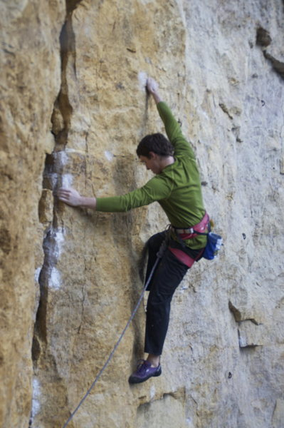 Rock Climbing Photo: Exiting Relentless and entering the face of Gravit...