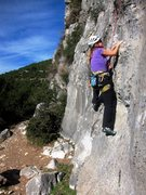 Rock Climbing Photo: Just off the ground on Najoua