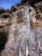 Rock Climbing Photo: Middle of the Kaptan Hook sector where the routes ...