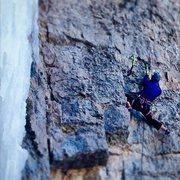 Rock Climbing Photo: Mary heading up Dolly Madison.
