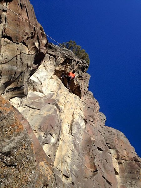 Rock Climbing Photo: Starting the crux