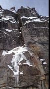 Rock Climbing Photo: Thin conditions.