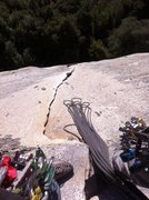 Rock Climbing Photo: Another awesome morning at Danland! Looking down t...