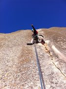 Rock Climbing Photo: Rapping off of the route