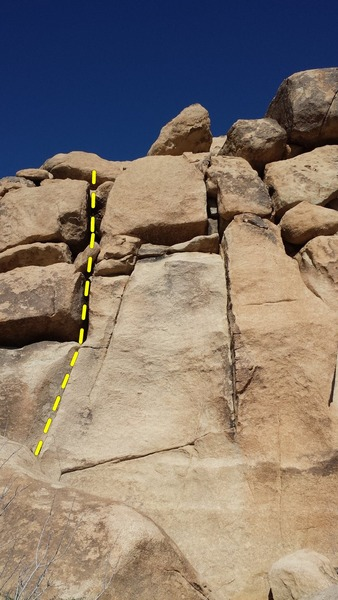 Rock Climbing Photo: Penthouse Pet is the right-slanting crack shown on...