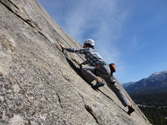 Rock Climbing Photo: Pat on Earn Your Wings