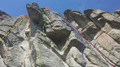 Rock Climbing Photo: left side of provo wall. finer niner - yellow. whi...
