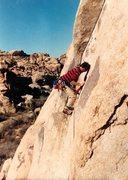 Rock Climbing Photo: Moving past the last bolt on Heart and Sole (5.10a...