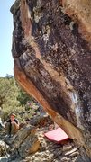 Rock Climbing Photo: Farther from the Sun. Move from the sidepull lower...