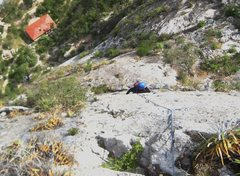 Rock Climbing Photo: Jack Emery on Jungle Moutaineering. Route directly...