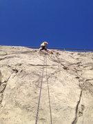 Rock Climbing Photo: steven watje tryin to stay on the stripes