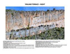 Rock Climbing Photo: Finland Terrace - Right