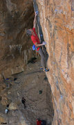 Rock Climbing Photo: Ed Strang after the BIG Dyno  on the 1st/2nd ascen...
