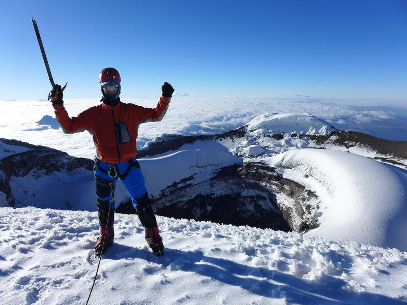 Summit of Cotopaxi (19,347 ft) in Ecuador