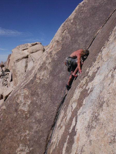 Rock Climbing Photo: Jordan leading Bighorn Dihedral