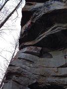 Rock Climbing Photo: Skull in Hole.