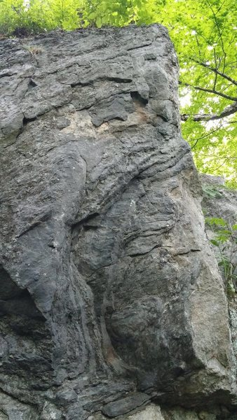Rock Climbing Photo: From the front - precleaning