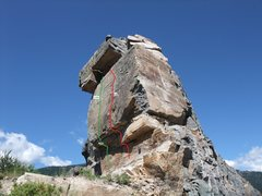 Rock Climbing Photo: Room With A View (5.10a) @ Stone Hill, MT  submitt...