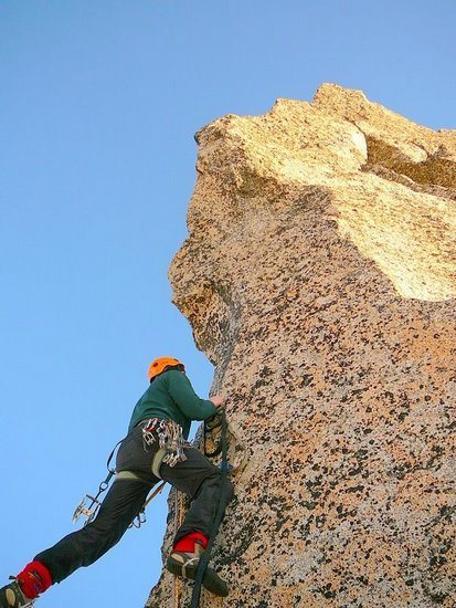 Rock Climbing Photo: Starting up the bolt ladder.