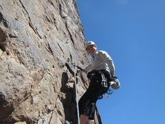 Rock Climbing Photo: Me leading at St. George.