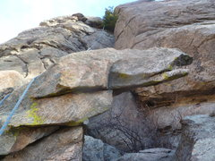 Rock Climbing Photo: The top after the final crux.  Going up is 5.6 or ...