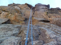 Rock Climbing Photo: The mid-section between the cruxes.
