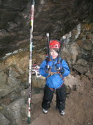 Rock Climbing Photo: Finley Helmuth hanging out at the Den.