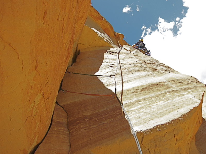 "Rock Climbing Photo: Jake T. after onsighting the crux of ""Souther..."