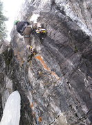 Rock Climbing Photo: Ryan Bogus on an early redpoint of Furry Thang.