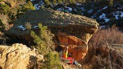 Rock Climbing Photo: Start beta of Schwanke House.