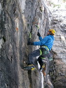 Rock Climbing Photo: Mike Arnold getting started on the Furry Thang at ...