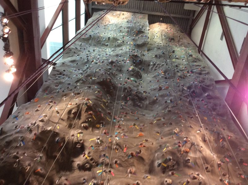 Rock Climbing Photo: This is the tall wall while the short wall is righ...