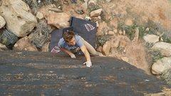 Rock Climbing Photo: Nick making his way up