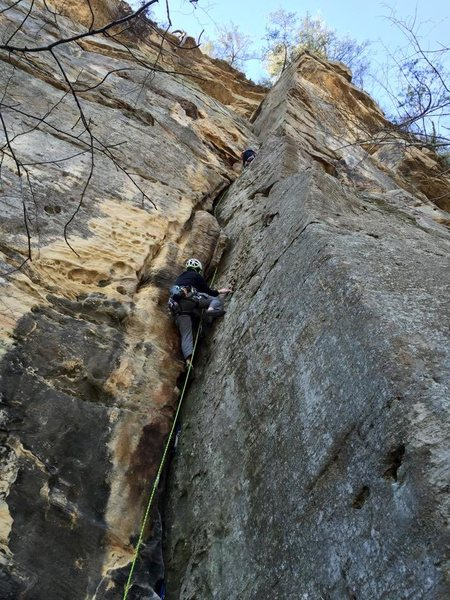 Rock Climbing Photo: First Pitch Following