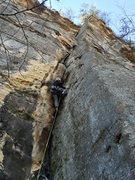Rock Climbing Photo: First Pitch Following