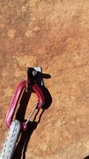 Rock Climbing Photo: 1st bolt on Pitch 3....you decide.