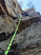 Rock Climbing Photo: Second Pitch Leading