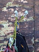 Rock Climbing Photo: Bolts found at the top of the climb.  We used thes...