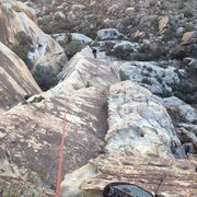 Rock Climbing Photo: Looking down on Pitch 3.