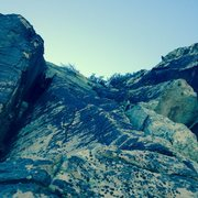 Rock Climbing Photo: Looking up at Pitch 4.