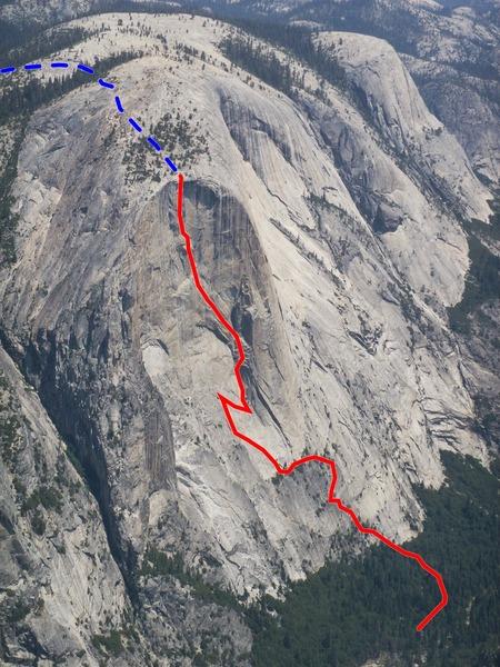Rock Climbing Photo: The South Face of Watkins