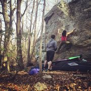 Rock Climbing Photo: Moss man v6 at moores