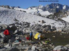 Rock Climbing Photo: Mt Bonney from Sir Donald Camp