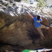 Rock Climbing Photo: Possible the 2nd ascent of this fun forgotten V6.