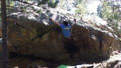 Rock Climbing Photo: Heel hooking