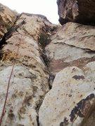 Rock Climbing Photo: Looking up at Pitch 1.  Fun and mellow start.