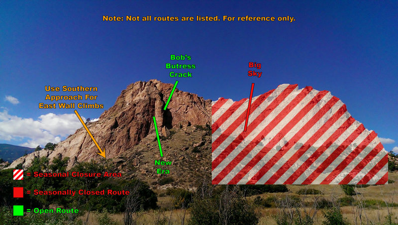 Rock Climbing Photo: Photo of closure area of Grey Rock in GOG.